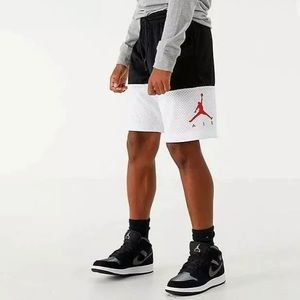 Nike Air Jordan Basketball Shorts Black White